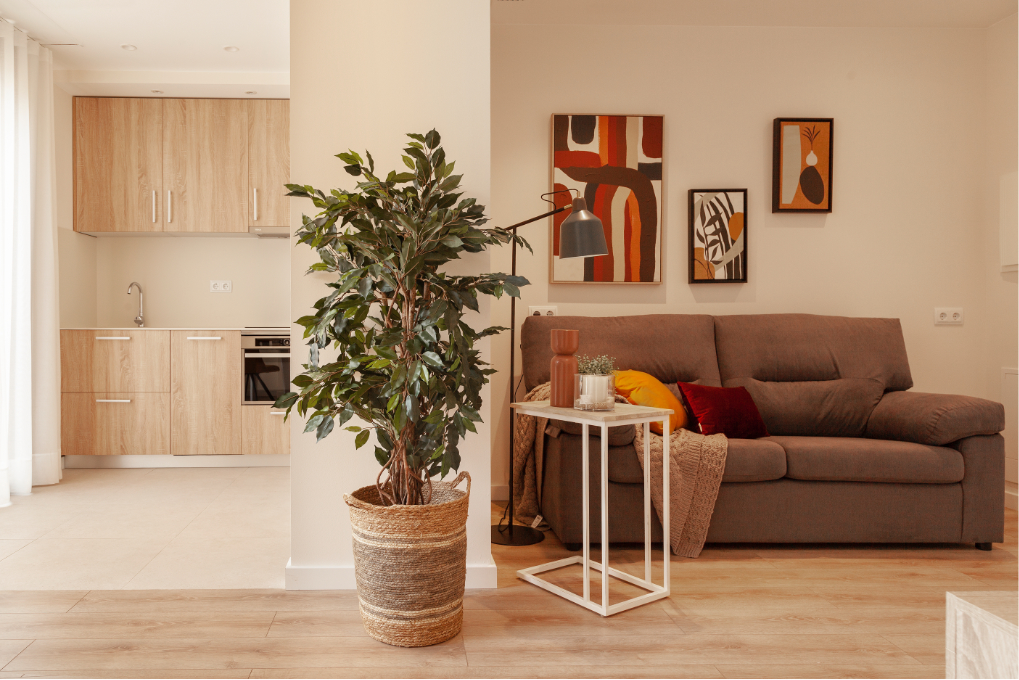 Sala d'estar dels Allotjaments per a la gent gran a Vilafranca del Penedès